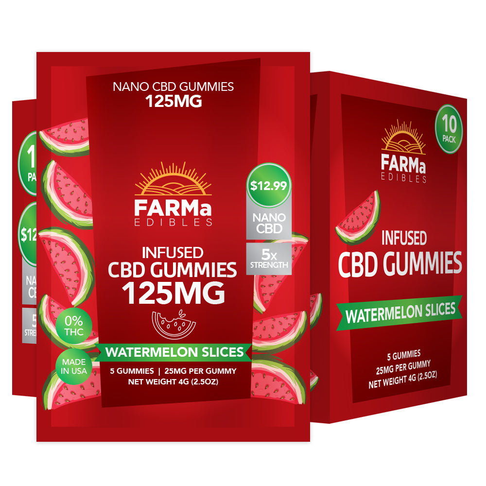 FARMa - INFUSED CBD WATERMELON SLICES GUMMY 5CT 125MG