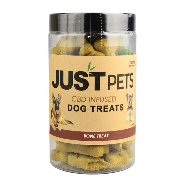 JUST CBD - BONE DOG TREATS JAR 100MG