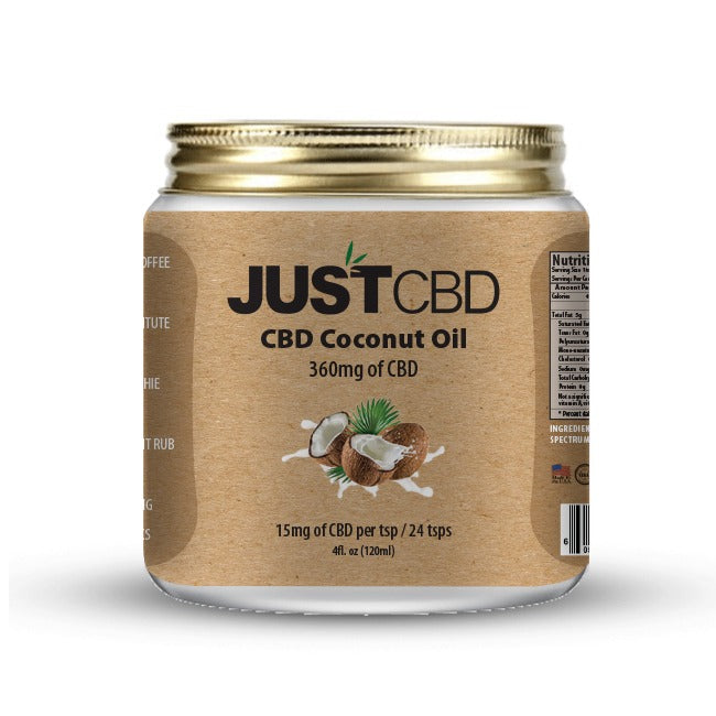 JUST CBD - CBD COCONUT OIL JAR 4OZ 360MG
