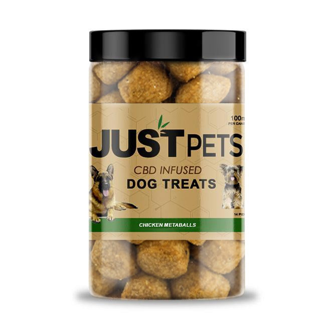 JUST CBD - CHICKEN METABALLS DOG TREATS JAR 100MG