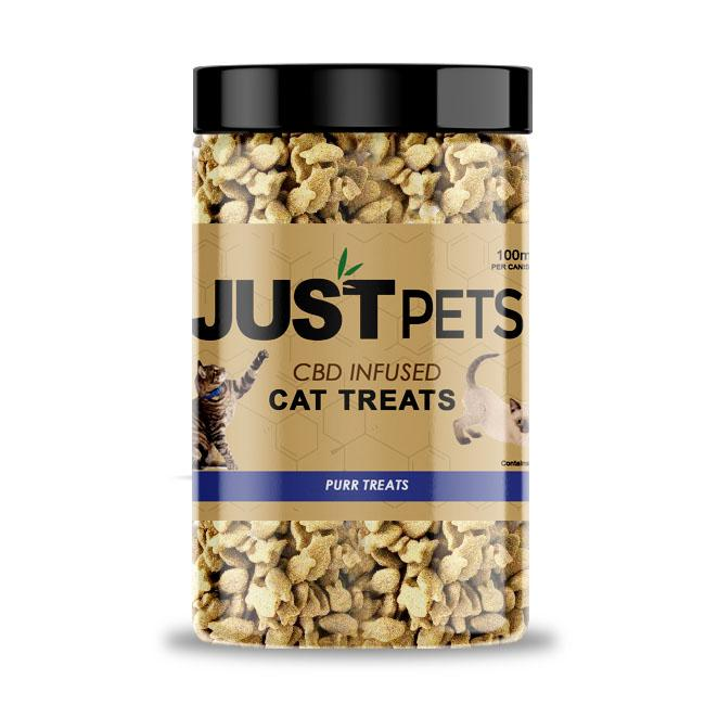 JUST CBD - PURR CAT TREATS JAR 100MG
