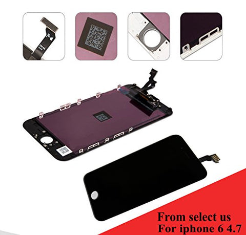 For Iphone 6 PLUS (5.5 inch) (A1522, A1524, A1593) screen replacement LCD screen digitizer Assembly Touch screen front glass black