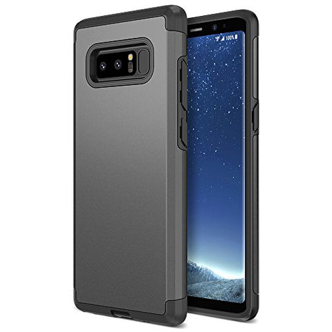 Note 8 Case, Trianium Protanium Galaxy Note 8 Case HEAVY DUTY Case with GXD Impact Gel (Gunmetal) EXTREME Protection Shock-Absorption Tri-Layer Reinforced Protective Hard Cover
