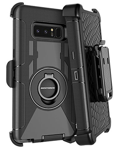 Samsung Note 8 Case, Galaxy Note 8 Case Belt Clip, BENTOBEN Heavy Duty Shockproof Kickstand Swivel Belt Clip Full Body Rugged Bumper Hybrid Holster Protective Case for Samsung Galaxy Note 8, Black