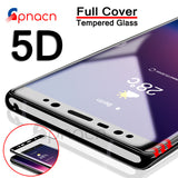 5D Curved Full Cover Tempered Glass For Samsung Galaxy Note 8 Screen Protective Film For Samsung Galaxy S8 Plus S9 Plus case