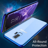 Galaxy S9 PLUS Cases, High Transparent Protective Hard Case Electroplated for Samsung Galaxy S9 PLUS Slim Shockproof Lightweight Protective Shell Cover For Samsung Galaxy S9 PLUS By Ainope (Blue)