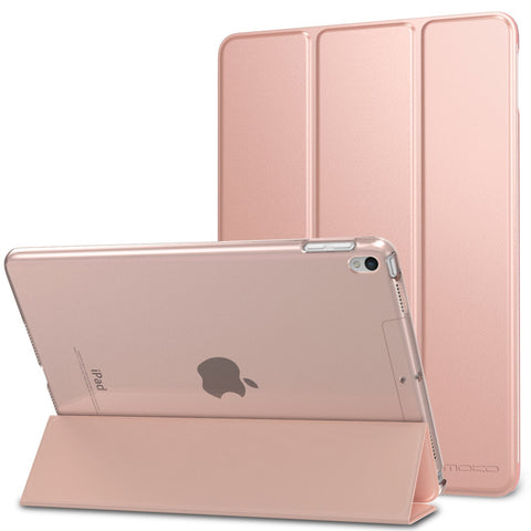 MoKo Case for iPad Pro 10.5 - Slim Lightweight Smart Shell Stand Cover with Translucent Frosted Back Protector for Apple iPad Pro 10.5 Inch 2017 Released Tablet, Rose GOLD (Auto Wake / Sleep)