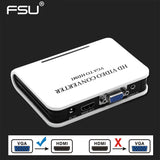 Quality Portable Plug and play VGA To HDMI Output 1080P HD Audio TV AV HDTV PC Video Cable VGA2HDMI Converter Adapter