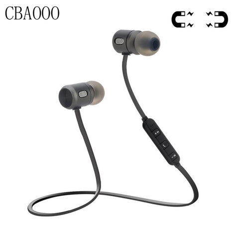 Bass Bluetooth Earphone Wireless Earphones With Mic Magnetic in ear