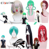 Coshome Anime Land Of The Lustrous Phosphophyllite Wig Houseki No Kuni Cosplay Wigs Red Green Black Hair
