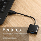 HDMI To VGA HDMI Male To VGA RGB Female Video Converter Adapter Male to Female Cable 1080P For PC Male-Female Adapter Converter