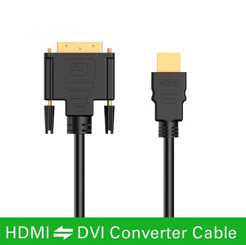 High speed HDMI to DVI 24+1 pin adapter Gold plated Male to male Cable For 1080P HD HDTV HD PC XBOX 1m 1.5m 2m 3m 5m