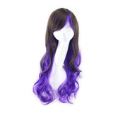Lolita Anime Long Curly Red Cosplay Wig Halloween Women Ombre Party Synthetic Wigs Hair Perruque Peluca Peruca Feminina