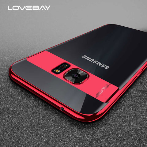 Lovebay Glossy Clear Case For Samsung Galaxy Note 8 Transparent Phone Case Soft TPU Back Cover For Samsung S8 S8 Plus S7 Edge