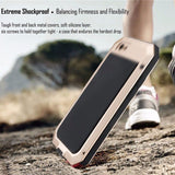 Luxury Doom Armor Dropproof Shockproof Metal Aluminum Case + Silicon Protective Cover for iPhone 7 6 6S Plus 5 5s SE Phone Cases