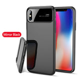 Luxury Smooth Mirror Case For iPhone X 8 7 Plus Cover Matte Hard PC Phone Cases For Samsung Galaxy S9 Plus Shockproof Armor Capa