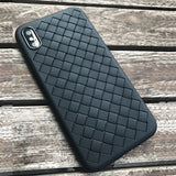 Phone case for iphone X 8 7 plus 6 6s Scrub Soft shell Weave pattern tpu Mobile  protection cover protection shell