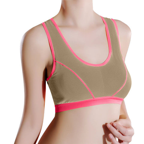 New Arrival Women Lady Sports Yoga Athletic Solid Wrap Chest Strap Vest Tops Bra Running Bra #20
