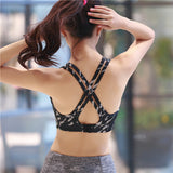 Sports Underwear Shockproof Running Fitness Sports Vest Yoga Bra for Workout Exercise
