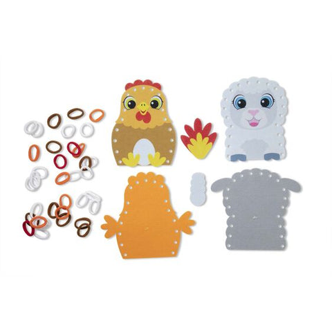 Loop It! Farm Puppets Beginner Craft Kit