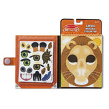 Make-a-Face - Safari Reusable Sticker Pad - On the Go Travel