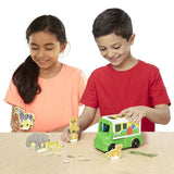 Magnetivity Magnetic Building Play Set - Safari Rescue Truck