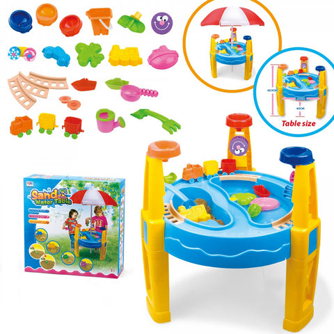 Sand & Water Table 29pcsW/Umbrella