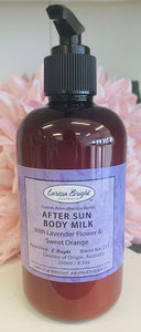 250ml After Sun Lavender & Orange Body Milk - Larissa Bright Australia