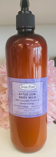 BULK 500ML After Sun Lavender & Orange Body Milk - Larissa Bright Australia