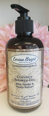 250ml Coconut Vanilla & Honey Shower Gel - Larissa Bright Australia