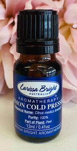 Lemon - Cold Pressed Essential Oil - Larissa Bright Australia
