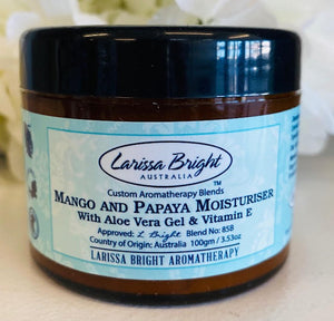 Mango and Papaya Moisturiser - Larissa Bright Australia