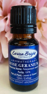 Rose Geranium Essential Oil - Larissa Bright Australia