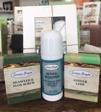 Hand Made Natural Soap & Lemon Myrtle Deodorant Kit - Larissa Bright Australia