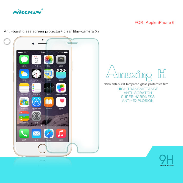 Nillkin Glass Screen Protector For Iphone 6 - H Series