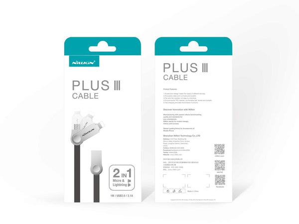 NILLKIN Plus Ⅲ Cable (Micro+Lightning)