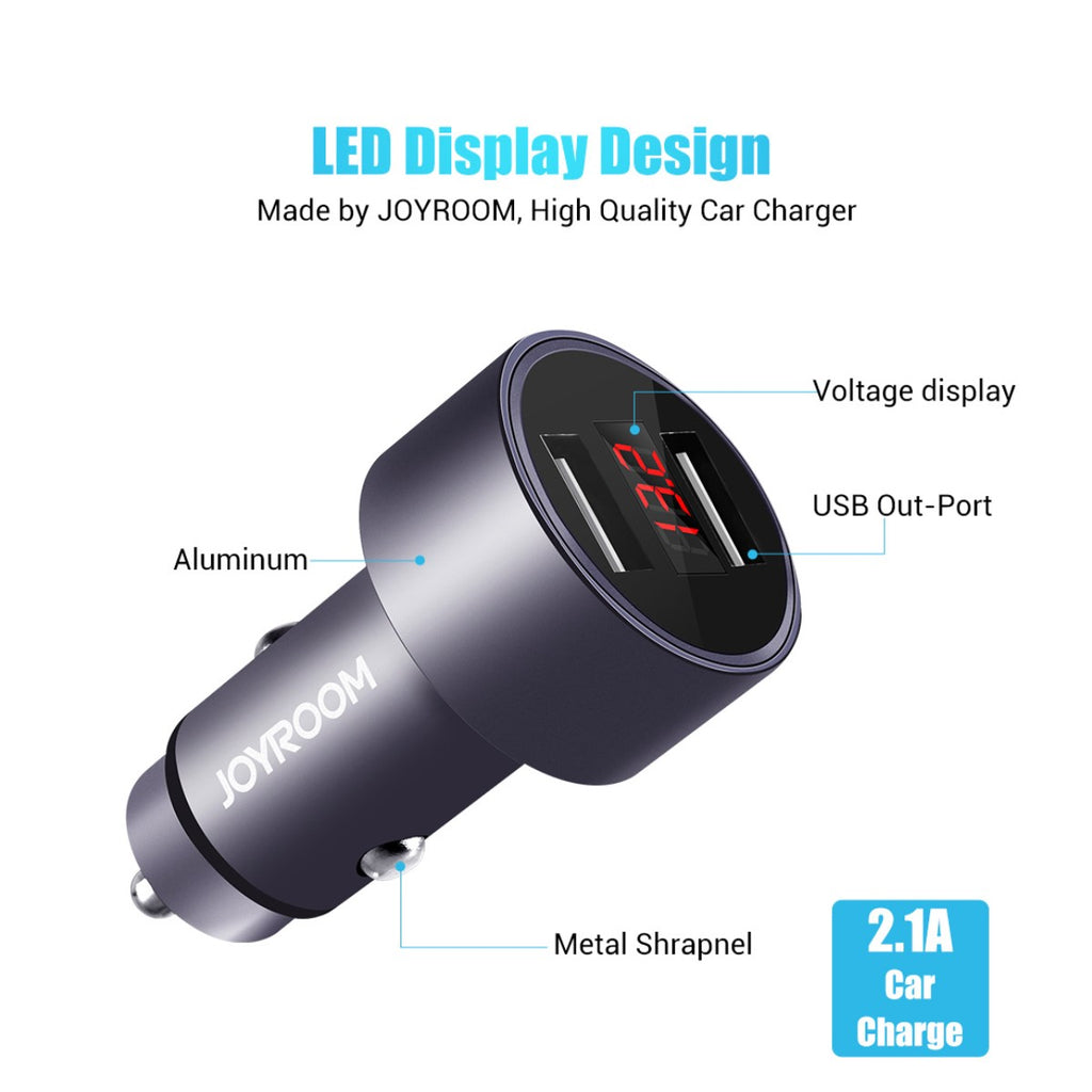 JOYROOM C-M215 5V 2.1A Dual USB Smart Car Charger