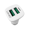 LDNIO (C301) 3.6A DUAL USB CAR CHARGER+CABLE