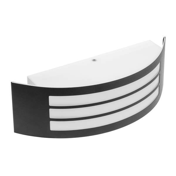 Astrit E27 Black Curved Wall Light