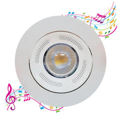 Warm White 2.5 Inch Integrated LED Downlight & Bluetooth Speaker