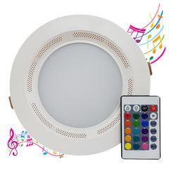 RGB + Warm White 6 Inch Integrated LED Downlight & Bluetooth Speaker