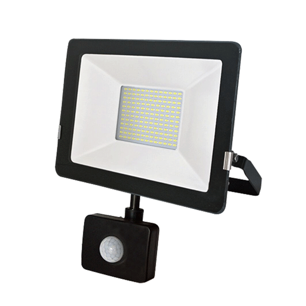 50W IP65 PIR Aluminium LED Floodlight
