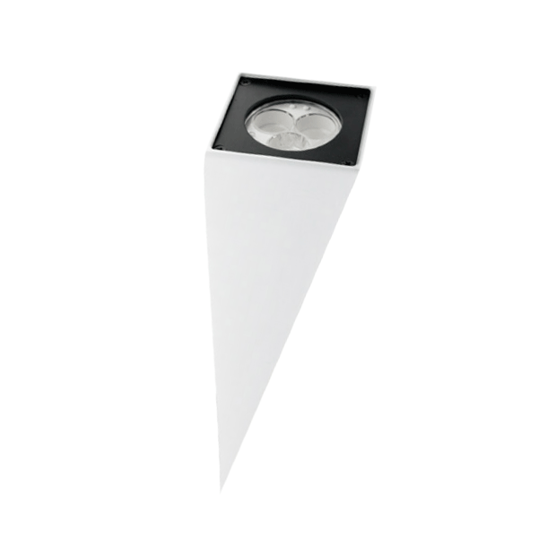 Mains (230v) 3w Led Chamfered Wall Light - White Led - White