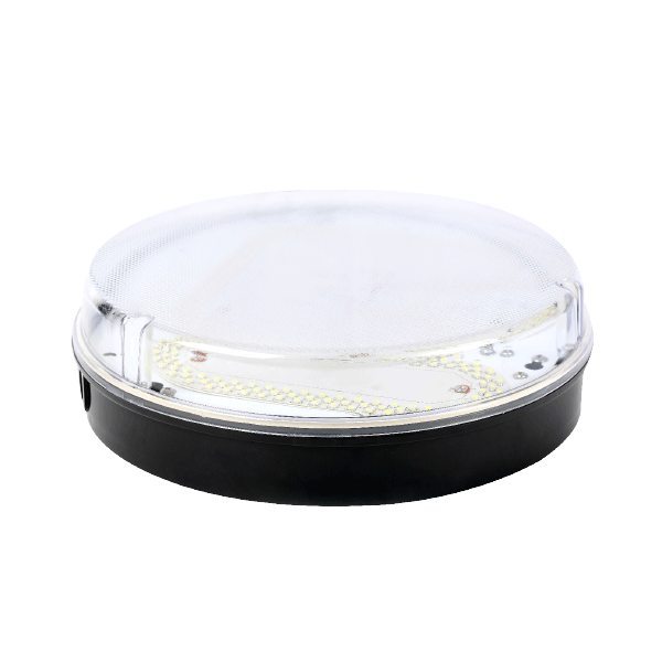 2D Black Prismatic LED IP65 Drum Fitting