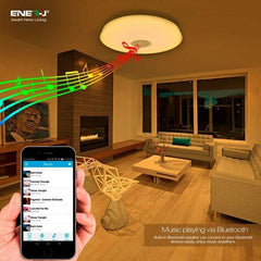 Smart LED Ceiling Lamp 24W, color changing RGB and Speaker