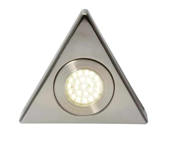 Culina Fonte Indoor Triangular LED Surface Mounted Cabinet Light 1.5w