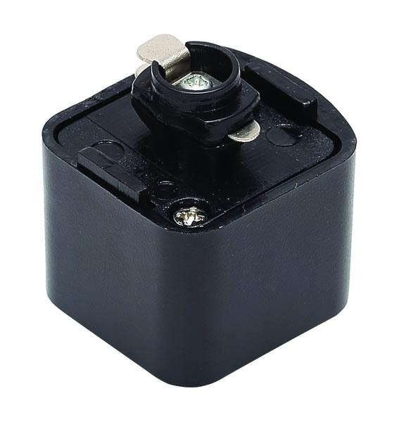 Black Culina Pendant Track Adapter for Single Circuit Track 240V