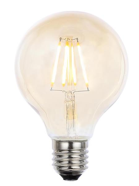 Vintage G80 ES Tinted Dimmable LED Filament Lamp (Light Bulb) 2200K