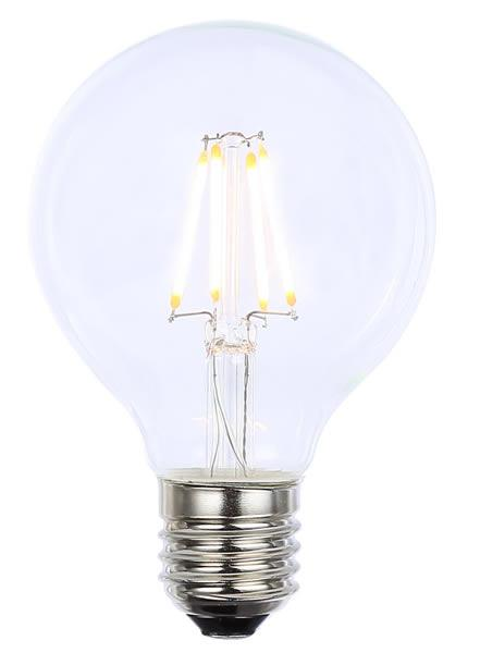 Vintage G80 ES Clear Dimmable LED Filament Lamp (Light Bulb) 2200K