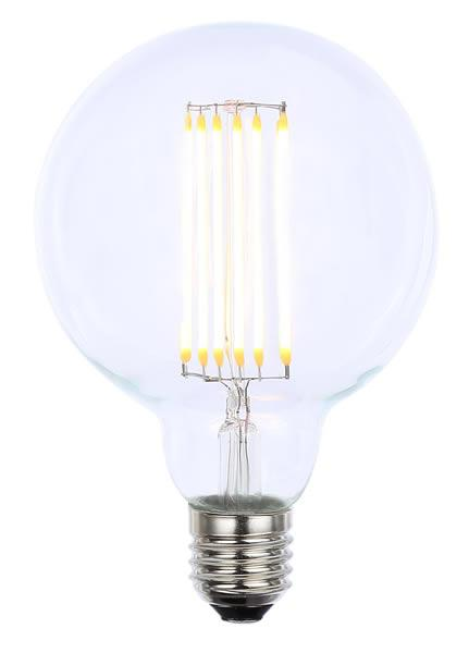Vintage G95 ES Clear Dimmable LED Filament Lamp (Light Bulb) 2200K
